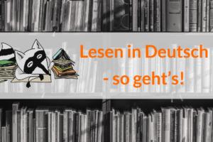 Lesen in Deutsch mit Waschbär